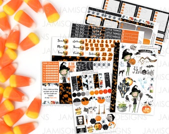 Witchy Woman planner stickers , * Choice of skin-tone *, Happy Planner, ECLP, KikkiK, Filofax, Midori, MAMBI