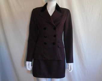 90s blazer jacket & matching skirt, Vintage 90s jacket mini short skirt set