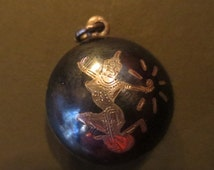 SALE Vintage Sterling Silver Siam Goddess of Lightning Pendant