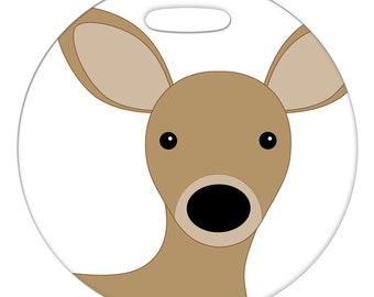 Luggage Tag - Deer - Round Plastic Bag Tag