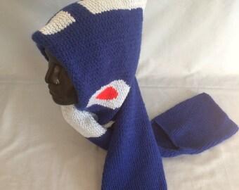 Megaman hooded scarf w/pockets