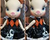 Alice Cherry Blossom Tiny BJD Halloween Dress by Tickled Pink by Julie