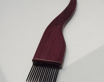 new item-weaving beater or fork- Purpleheart-FINE