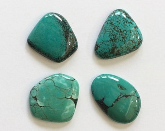 Gemstone Cabochons Turquoise Free Form Parcel FOUR CABS