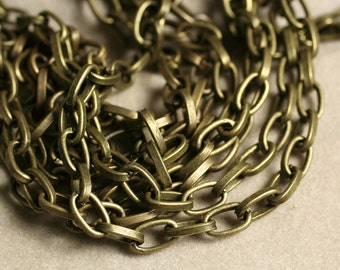 Antique brass link chain cable chain link size 6x3.5mm, 5 ft (item ID YWAB0.7BSSZ)