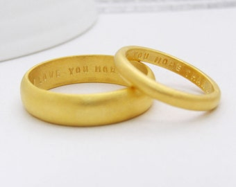 Customer Wedding Bands | Alternative Wedding Bands | Gold Wedding Bands | Personalised Wedding Bands | His & Hers Rings