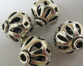 beads-silver beads-sterling silver beads-bead supplies-jewelry supplies-ONE BEAD
