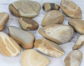 Tan color stones from Alaska - Multi-color stones - Rocks for the garden - Rocks for display - Natural found river stones - Picture stones