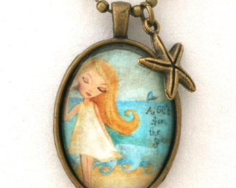 Girl's Necklace-Kids Jewellery- Beach Chic -Jewelry for Children- Gift for Girl- Stocking Stuffer