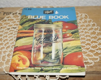 vintage Ball  canning Ball Blue book   1974  New revised edition  29