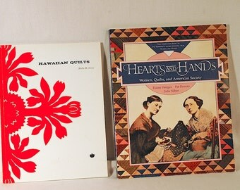 Two Quilting History Books Hawaiian Quilts Antique Quilts