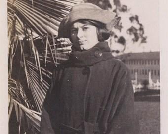 Vintage photo 1920 Young Lady Fashion Coat Hat Sophia Loren Looks