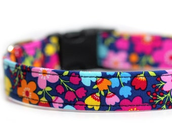 Floral Dog Collar - Forgetmenot
