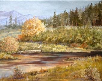 Original Painting - Jack Knife Creek - Star Valley Wyoming