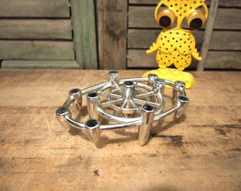 Free Shipping  Candle holder in photo 1 and 2  Vintage metal Dansk Designs Mini Candle Holder Flower Frog or Candelabra