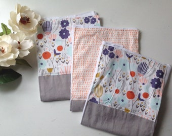 Morning Song burpcloth : Boho baby burp cloth. Newborn essentials.