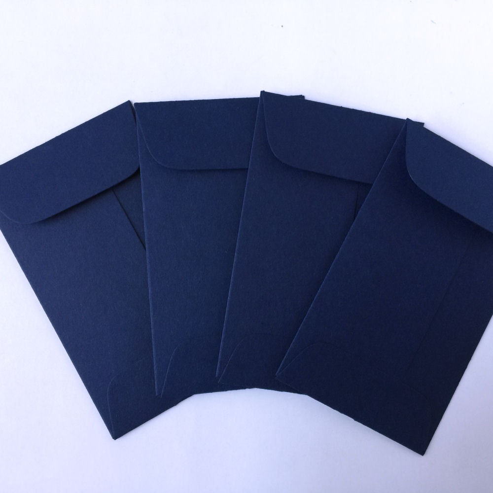 Wedding Navy Blue Envelopes - 100 Coin Envelope - Business Card ...