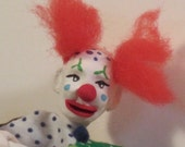 "OOAK miniature dollhouse clown  ""Dots"""