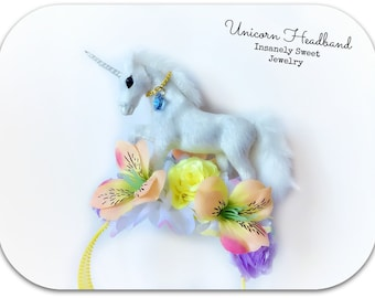 Unicorn Headband- Flower Headband