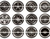 Steampunk Magnets, Steampunk Gears, Steampunk Flatbacks, Steampunk Pins, Steampunk Badges, Steampunk Wedding, Filigree Gears, 12ct. Set