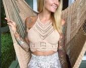 Crochet crop top, boho top, festival top, hippie top,  summer top, sexy crochet top, festival top,  boho hippie top,  festival hippie top,