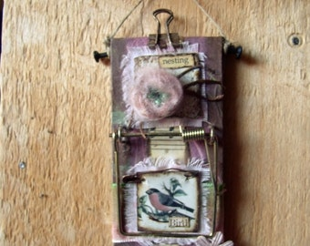 """Altered Mouse Trap """"Miracle of Nature"""", Mixed Media, Art, Ornaments FREE SHIPPING!!"""