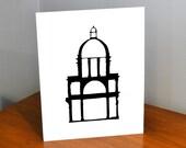 Architecture Papercut, Santa Maria Maggiore, 11x14 or 8x10 Original hand-cut paper art