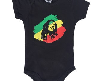 Rasta Man Onesie - 3 sizes available. Screen printed. Handmade. Cool Funny Baby grow reggae irie Jamaica clever rock roll