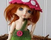 PukiFee/Lati Yellow 3 Pc Outfit Set Fantasy Mushroom