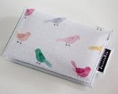 Handmade Vinyl Card Holder - Little Bird / card case, vinyl wallet, snap, women's, small wallet, bird wallet, birds, pretty, cute
