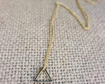 Minimalist Gold Triangle Neclace