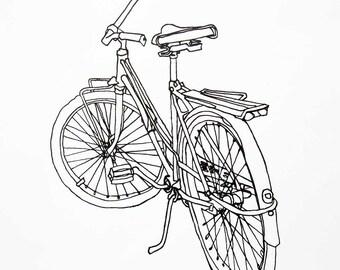 Bicycle Art Print - Ladies Spaceliner Cruiser Bike Art