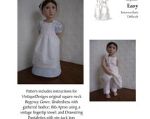 """A Girl For All Time 16"""" Doll Regency Ensemble PDF Pattern VintiqueDesigns"""