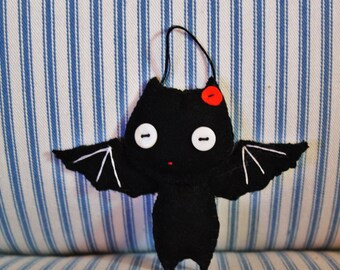 Bat Ornament Felt Halloween Fun