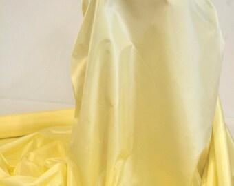 "Acetate Taffeta Fabric Lemon yellow  45"" wide choice of colors..lining..dresses...wedding...formal ...home decor"