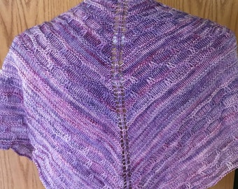 Lilac Wool Triangle Scarf