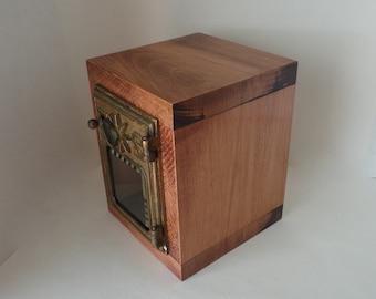 Rustic Maple Safe 1901 Bronze Starway USPS Door Post Office Retirement Lock Box Bank Groomsman Wedding Party 5th 8th Anniversary lockbox