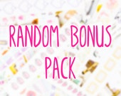 Random Sample Bag Of Mini Stickers Sheets | For Kikki K, Erin Condren, FiloFax or other Journals and Planners