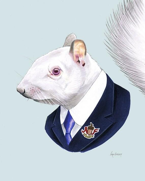 Albino Squirrel print 8x10