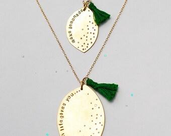 Mini Lemon Love Necklace