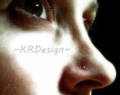 Sterling Silver -  Nose Stud - Tiny Ball Nose Stud - Customise - Free US Shipping
