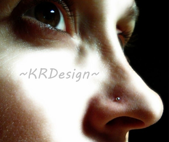 Sterling Silver-14K Gold-Nose Stud-Tiny Ball-Nose Stud-Tragus-Earrings-Customised / Free US Shipping