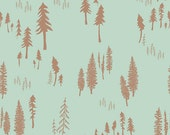 Timberland Dew - Hello Bear - Art Gallery Fabrics - Bonnie Christine - HBR-5437 - Woods Forest Pine Trees Nature