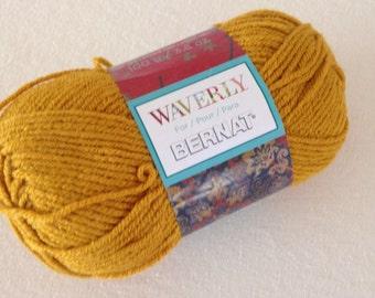 Bernat Waverly in gypsy gold, destash yarn.