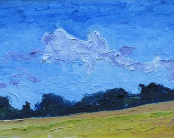 Art & Collectibles Artist Trading Cards ACEO Landscape Oil Painting Original  Miniature Small Impressionist Minimalist Fournier no 2015-11