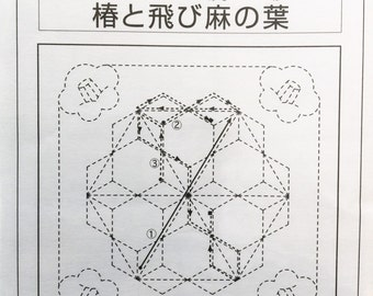 Olympus #281 Japanese sashiko kit cotton Tsubaki Tobi Asa-no-ha NAVY BLUE
