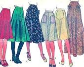 70s hippie skirts Festival boho Prairie Revival style vintage sewing pattern McCalls 5113 UNCUT Size 12 Waist 26