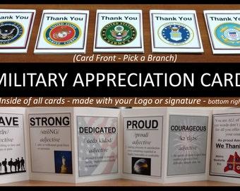 Military Appreciation Cards