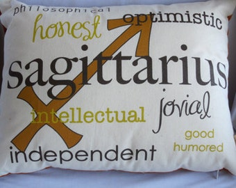Sagittarius Zodiac Pillow