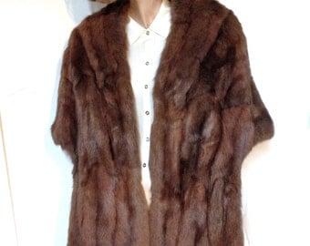 Sable Stole Fur Coat Sable Wrap Cape Vintage 60s Size 12 to 14